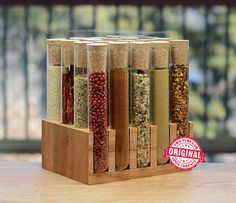 20 Test Tube Spice Rack by TheTubularSpiceCo on Etsy https://www.etsy.com/listing/215189558/20-test-tube-spice-rack