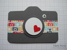 Envelope Punch Board Camera Card  - Valerie Moody,   My European Convention 2013 Swap - a cute camera card made using the Envelope Punch Board. There is a free tutorial on my blog. X
