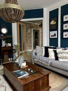 Nov 22 My sitting room flooring solution…… With Kersaint Cobb - Home Dekor Jute Carpet, Rugs On Carpet, Wool Carpet, Carpet Flooring, Bedroom Carpet, Living Room Carpet, Living Rooms, Dark Blue Walls, Floor Colors