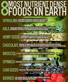 8 most nutritient foods, for your health