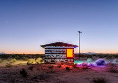 The Colour Of Solitude: The ''Lucid Stead'' Light Installation By Phillip K. Smith III In The Middle Of A Desert.