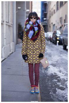 Adriana in New York Street Style Portrait | Streetgeist.com