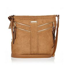dad8b0aaf Brown faux suede messenger handbag Shoulder Strap Bag, Crossbody Shoulder  Bag, Shoulder Handbags,