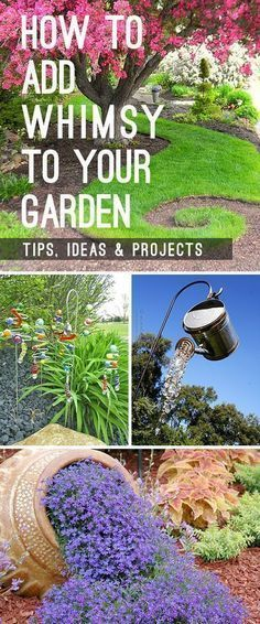 Learn how to add whimsy to your garden with garden art, DIY garden projects and other great ideas and tips! #Whimsicalgarden #gardening #DIYgardenprojects #garden #gardenprojects #gardenwhimsy