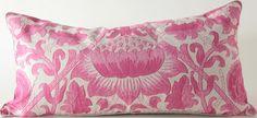 Botanical Pink 16x31 Pillow: Designer Pillow Shop, Luxury Decorative Throw Pillows, Decorator Pillows