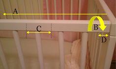 Crib rail teething guard tutorial