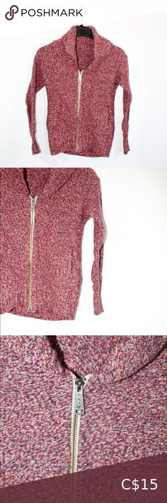 """TNA red and blue sweater, XS In decent condition, red and blue TNA sweater. Size is XS. Does not have inside tags still attached. Measurements: Taken while lying flat Chest: 16.5"""" Length: 21.5"""" Sleeve inseam: 17"""" TNA Sweaters Cardigans Tna Sweater, Cowichan Sweater, Zip Up Sweater, Long Sleeve Sweater, Long Sweaters, Blue Sweaters, Cardigans, Sweaters For Women, Navy Blue Dress Pants"""
