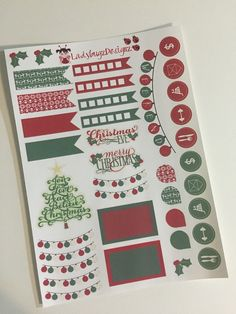Christmas Stickers for your Erin Condren by LadybugzDesignz