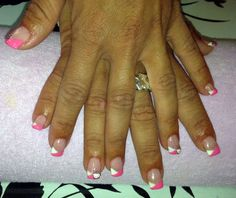 U as de gel decoradas con esmaltes permanentes rosas u as decoradas por todo nails pinterest - Unas permanentes decoradas ...