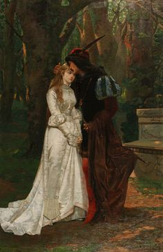 Romeo And Juliet by N. BonzaSheila Presents The Art Of Love . Medieval Art, Renaissance Art, Courtly Love, Romance Art, Art Of Love, Classical Art, Romeo And Juliet, Old Art, Aesthetic Art