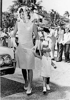 Jacqueline Kennedy with John Jr.