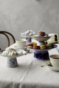 cake stands from old plates