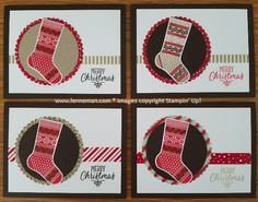 Dena Lenneman, Stampin' Up! Demonstrator: Hang Your Stocking Stockings Thinlits Merry Christmas