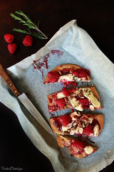 Raspberry, Brie and Candied Almond Pizza | A Dash of Nostalgia
