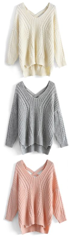 Sunny Afternoon V-neck Sweater- Warm and Cozy