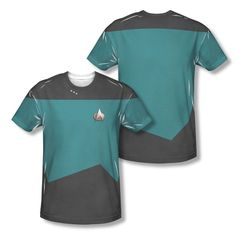 New Star Trek TNG Science Uniform Logo Costume All Over Sublimation T-shirt Top #TrevcoInc #GraphicTee