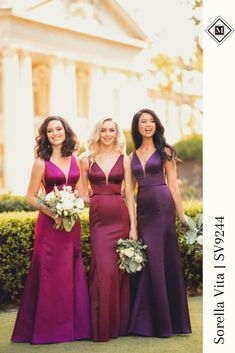 Apr 2020 - Elevated, modern, sexy—yet totally formal—your bridal party will turn heads at every angle with this silken bridesmaid dress from Sorella Vita. Sorella Vita Bridesmaid Dresses, Winter Bridesmaid Dresses, Winter Bridesmaids, Bridesmaid Inspiration, Wedding Inspiration, Bridesmaid Ideas, Style Inspiration, Bridal Gowns, Wedding Gowns