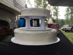 Two Tiered Carrot Cake with Cream Cheese Frosting Wedding Cake Cake With Cream Cheese, Cream Cheese Frosting, Carrot Cake, Carrots, Wedding Cakes, Wedding Gown Cakes, Carrot Cakes, Wedding Pie Table, Wedding Cake
