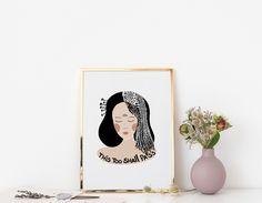 Spiritual Art Print - Inspirational Quote Gift - This Too Shall Pass - Meditation Quote - Boho Art Print - Modern Art - Vintage Style Art Meditation Quotes, Gift Quotes, Poster Making, Vintage Style, Modern Art, Spirituality, Inspirational Quotes, Art Prints, Boho