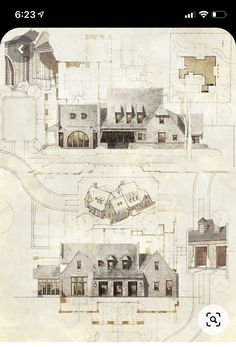 Classical Architecture, Residential Architecture, Contemporary Architecture, Clarendon Hills, Vintage World Maps, Architecture Illustrations, Architecture Sketches, Exterior, Drawings