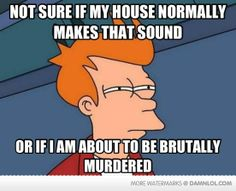 YES. Or I hate being at a friends house, and not knowing their house sounds.