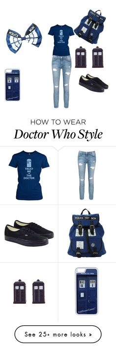 """Doctor who"" by jpnunn on Polyvore featuring CellPowerCases, Current/Elliott and Vans"