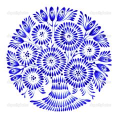 floral circle, hand drawn, illustration in Ukrainian folk style - stock vector Mandala Drawing, Mandala Art, Art Floral, Ballpoint Pen Drawing, Beaded Spiders, One Stroke Painting, Vintage Drawing, Decoupage Paper, China Painting