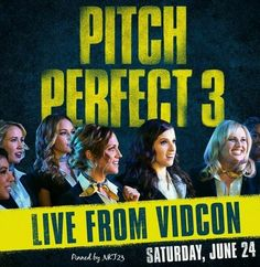 June 2017 is the day we all gonna die MY BODY IS NOT READY FOR THIS The fact that some of the cast is gonna be there to like present the trailer is even b Emily Junk, Cast Of Pitch Perfect, Ester Dean, Alexis Knapp, Fat Amy, Anna Camp, Perfect Live, Rebel Wilson, Brittany Snow