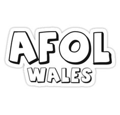 """""""AFOL Wales by Customize My Minifig"""" Stickers by ChilleeW   Redbubble"""
