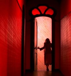 Suspiria...a good example of the amazing cinematography & set decoration creating a sense of unease.