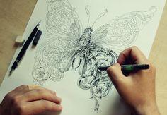 Little Wings Hand Drawing | Abduzeedo Design Inspiration | This is amazing!
