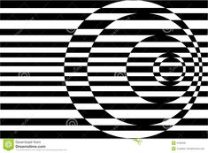 Op Art Contrasting Concentric Circles Black/White
