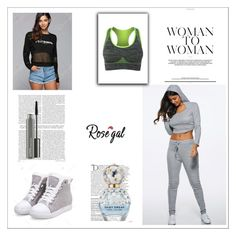 """GYM STYLE 11"" by umay-cdxc ❤ liked on Polyvore featuring Balmain, Marc Jacobs and MAC Cosmetics"