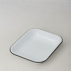 Enamelware Roasting Pan - retains heat, is naturally nonstick, and has vintage good looks and feel - from West Elm Market