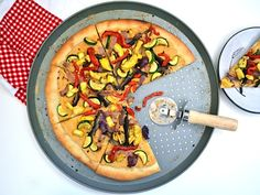 Roasted Vegetable and Hummus Pizza.  I'm going to use the Sriracha Hummus. MMMMM