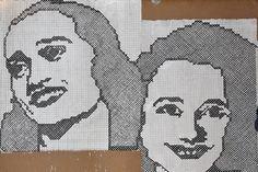 CONSELICE Allargare lo sguardo: paesaggio di campagna con muro e ritratto / Lady Groove