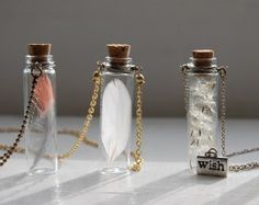 Feathers in jars