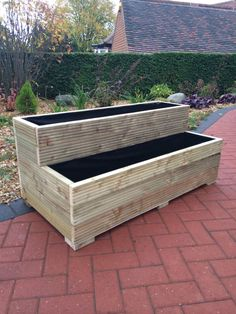 Outdoor flower boxes wood outdoor planters best wooden garden ideas on planter box flower boxes and large outside extra large planters patio pots and Plant Troughs, Garden Troughs, Trough Planters, Garden Planter Boxes, Wooden Garden Planters, Patio Planters, Cheap Planters, Recycled Planters, Vegetable Planters