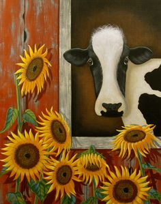 11 x 14 Signed / Numbered Print Cow by marycharlesfolkart