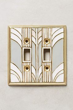 Retro Swirl Switch Plate - anthropologie.com #anthrofave #anthropologie