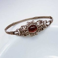 `.Samantha Claire Garnet Bracelet.