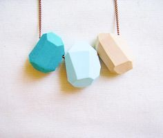 Geometric polymer clay necklace by Alina and T on Etsy