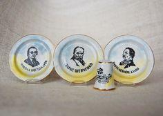 """Brotherhood of Saints Cyril and Methodius"", triptych memorial mini-dish and collectible thimbles, 2013 Dovbish"