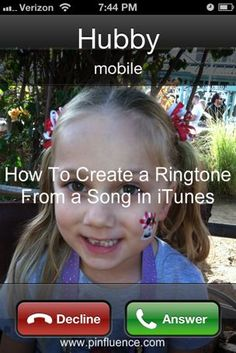 Create a ringtone for your iPhone using a song in iTunes...SO EASY!