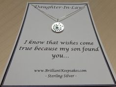 Daughter In Law Gift Idea Wishes Come True by BrilliantKeepsakes