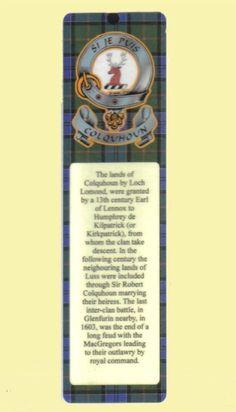 For Everything Genealogy - Colquhoun Clan Badge Clan Colquhoun Tartan Laminated Bookmarks Set of 2, $14.00 (http://www.foreverythinggenealogy.com.au/colquhoun-clan-badge-clan-colquhoun-tartan-laminated-bookmarks-set-of-2/)
