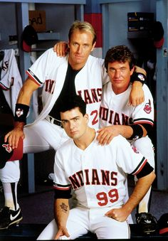 MAJOR LEAGUE, Corbin Bernsen, Tom Berenger, Charlie Sheen, Freakin' love this movie. Probably the best baseball one ever! Cleveland Team, Cleveland Indians Baseball, Cleveland Rocks, Funny Movies, Great Movies, 80s Movies, Charlie Sheen Interview, Baseball Movies, Baseball Cards