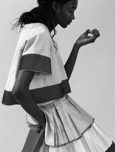 . idée couture : bandes contrastantes