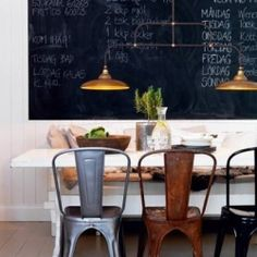 The most simple but oh so stunning dining room ever!