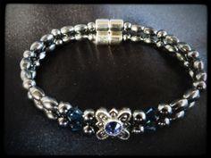 Love this bracelet! :)  Sapphire Flower Double Magnetic Bracelet $24.00